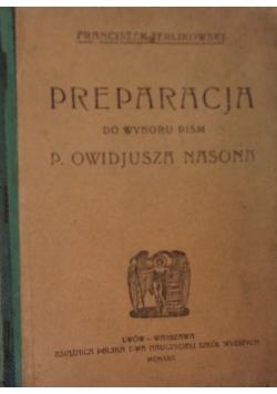 Preparacja do wyboru pism, 1922 r.