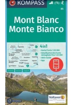 Mapa Mont Blanc 1:50 000 4w1 KOMPASS
