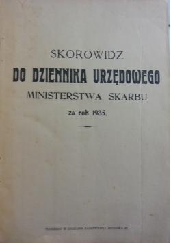 Skorowidz do dziennika urzędowego ,1935r.
