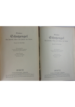 Kleiner Schutzengel, zestaw 2 książek, ok. 1930 r.