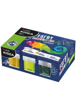 Farby dekoracyjne 6 kolorów x 20ml KIDEA