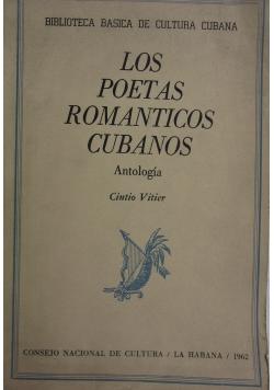 Los poetas romanticos cubanos