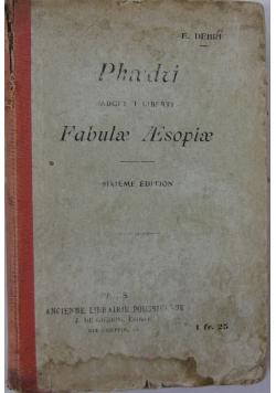 Fabulae Esopiae, 1917 r.