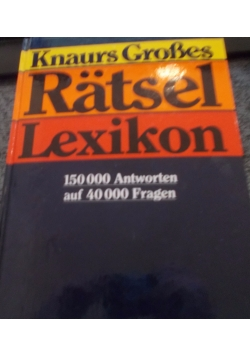 Ratsel Lexikon