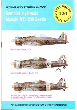 Samolot myśliwski Macchi MC. 200 Saetta