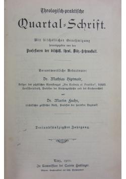 Theologisch praktische Quartalschrift 53 band, 1900r.