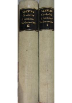Geschichte des Deutschen Kirchenrechts, dwa tomy, rok  1878