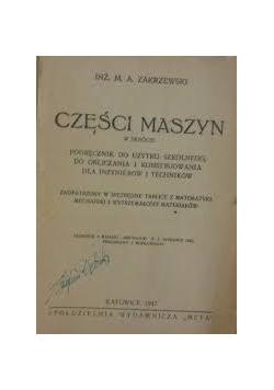 Części maszyn , 1947r.