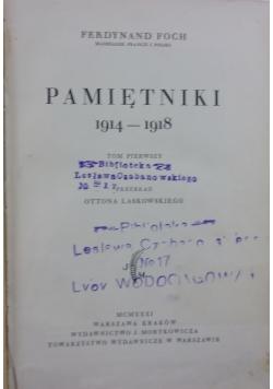 Pamiętniki 1914-1918, 1930 r.