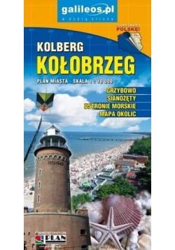 Plan miasta - Kołobrzeg 1: 10 000