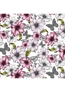 Karnet kwadrat CL0410 Etniczne kwiaty