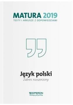 Matura 2019 Język polski. Testy i arkusze ZPiR