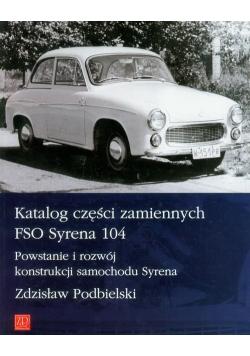 Katalog części zamiennych FSO Syrena 104