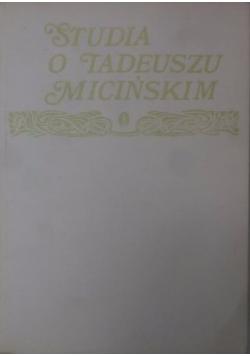 Studia o Tadeuszu Micińskim