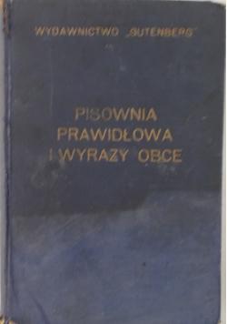 Pisownia prawidłowa i wyrazy obce, 1933 r.