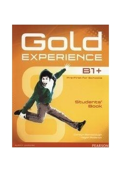 Gold Experience B1+ SB with DVD PEARSON