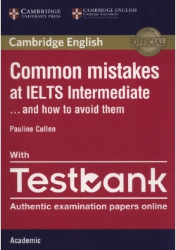 Common Mistakes IELTS intermediate with Testbank
