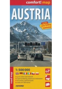 Comfort! map Austria 1:500 000 road map w.2018
