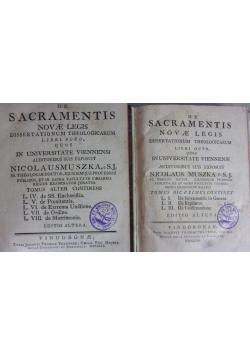 De Sacramentis Novae Legis Dissertationum Theologicarum Libri Octo, Tom I-II, 1763r.