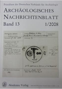 Archalogisches Nachrichtenblatt. Band 13