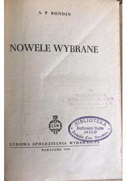 Nowele wybrane, 1950 r.
