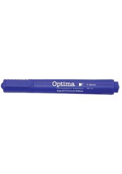 Marker pemanentny MC-16 niebieski (12szt) OPTIMA