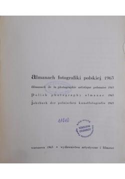 Almanach fotografiki polskiej 1963