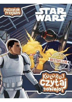 Koloruj, czytaj, naklejaj. Star Wars