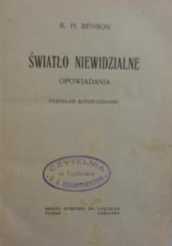 Światło niewidzialne, 1921 r.