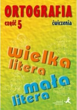 Ortografia dla SP i GIM cz.5 wielka/mała litera ćw