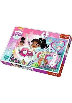 Puzzle 24 maxi Nieustraszona księżniczka TREFL
