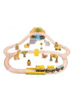 Safari Train Set Drewniany pociąg safari