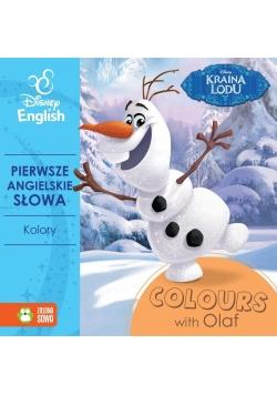 Pierwsze angielskie słowa z Olafem. Kolory