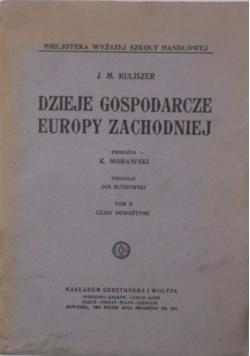 Dzieje gospodarcze Europy Zachodniej, Tom I, ok. 1923 r.