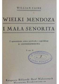 Wielki Mendoza i mały Senorita,  Tom II, 1925r.