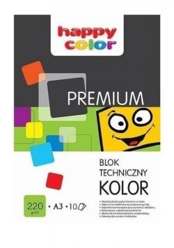 Blok techniczny kolor A3/10K Premium HAPPY COLOR