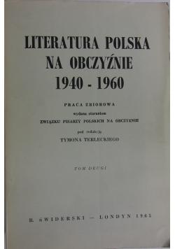 Literatura Polska na obczyźnie 1940 1960, tom 2