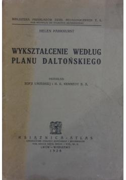 Wykształcenie według planu daltońskiego, 1928 r.