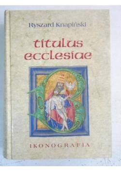 Titulus ecclesiae. Ikonografia