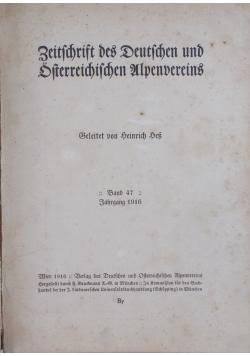 Zeitschrift des Deutschen und Oesterreichischen Alpenvereins, 1916r.