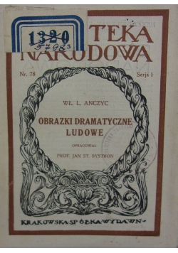 Orazki dramatyczne ludowe, 1924 r.