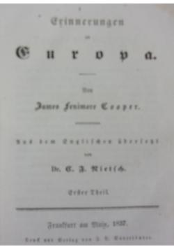 Grinnerungen an Europa, 1837 r.