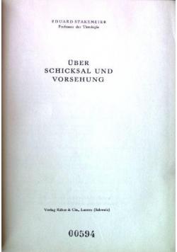 Uber schickal und vorsehung, 1949 r.