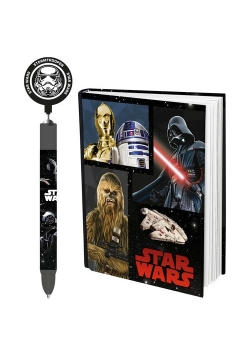 Długopis + notes Star Wars