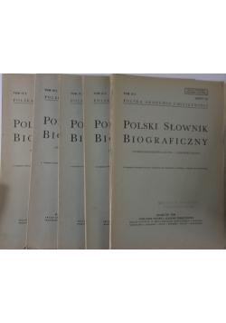 Polski słownik Biograficzny, 5 zeszytów