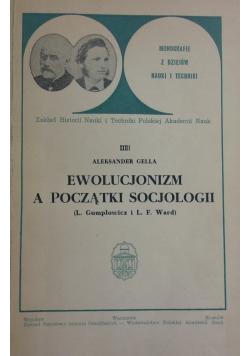 Ewolucjonizm, a początki socjologii