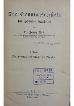DIE GONNTAGSEPIFTELN, 1925r.