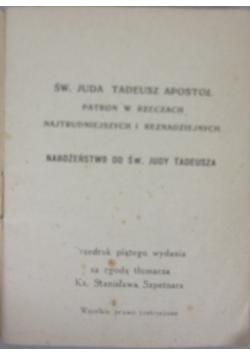 Św. Juda Tadeusz apostoł, 1949 r.