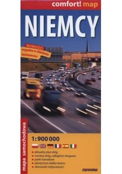 Niemcy mapa samochodowa 1:900 000