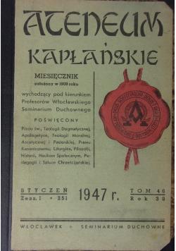 Ateneum kapłańskie, 1947r.